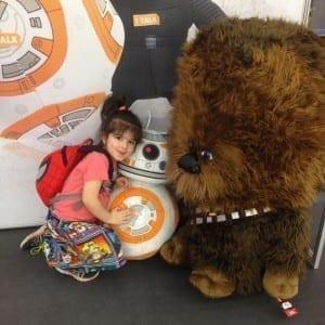 cuddling BB8 Chewie