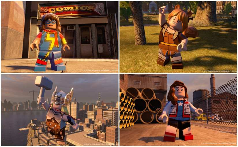 LEGO Marvel's Avengers review, Ms. Marvel, Kamla Khan, Jane Foster Thor, Miss America, Squirrel Girl, lego marvel's avengers the video game