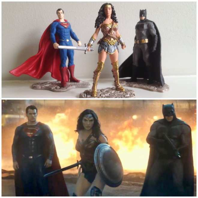 Batman Superman Wonder Woman Schleich figurines Batman V Superman Dawn of Justice toys