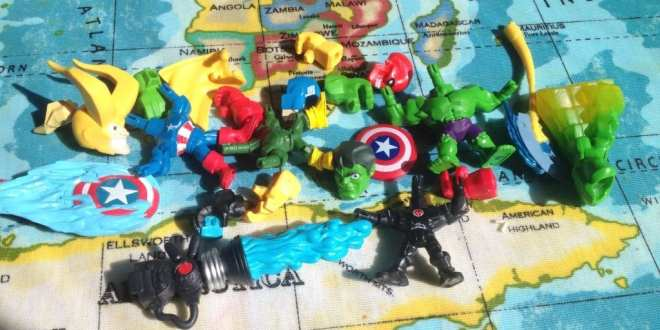 Marvel Super Hero Micro Mashers in pieces, Marvel Super Hero Mashers Micro Figure 2 Pack, Captain America and Red Skull, Hulk and Loki
