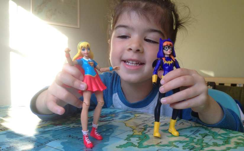 DC Super Hero Girls UK: Supergirl and Batgirl Action Figures