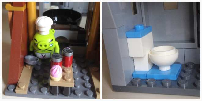 The Angry Birds Movie LEGO- King Pig's Castle (75826) toilet restroom