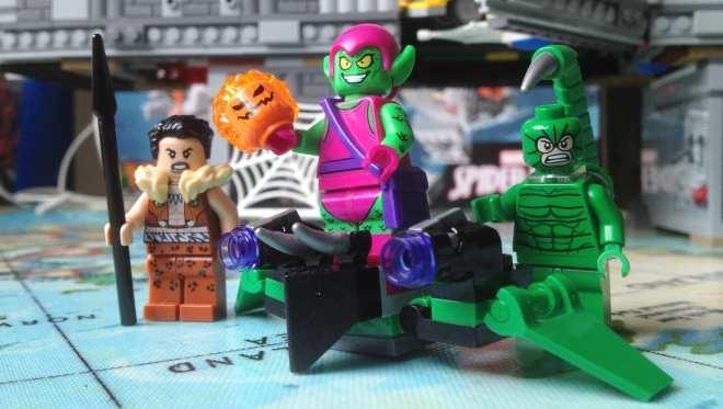 LEGO Marvel Superheroes Spider-Man Web Warriors Ultimate Bridge Battle 76057 supervillians minifigures