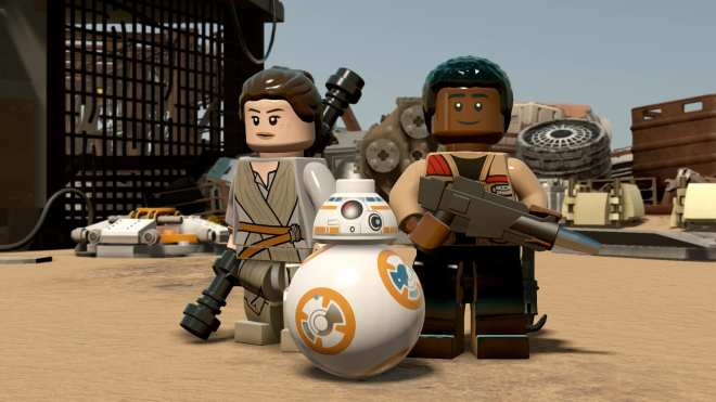 LEGO Star Wars The Force Awakens Rey BB8 Finn