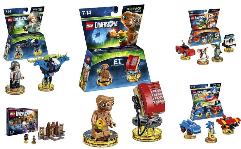 LEGO Dimensions ET, LEGO Dimensions gremlins, LEGO Dimensions sonic the hedgehog, LEGO Dimensions Fantastic Beast and where to find them, LEGO Dimensions Wave 7: