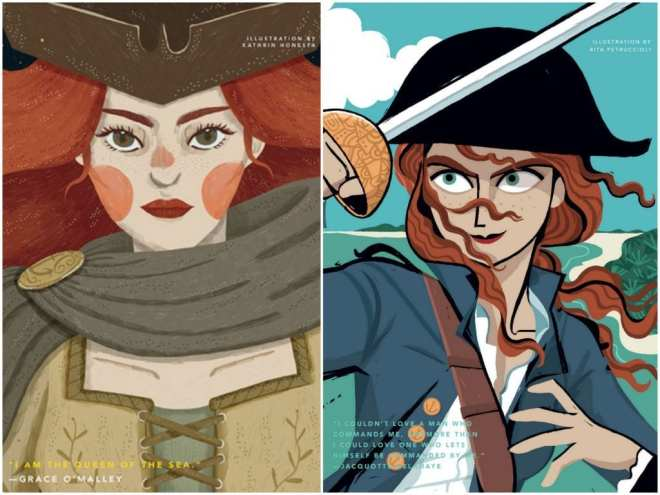 Female pirates, Grace O' Malley, Jacqotte Delahaye, Good Night Stories for Rebel Girls