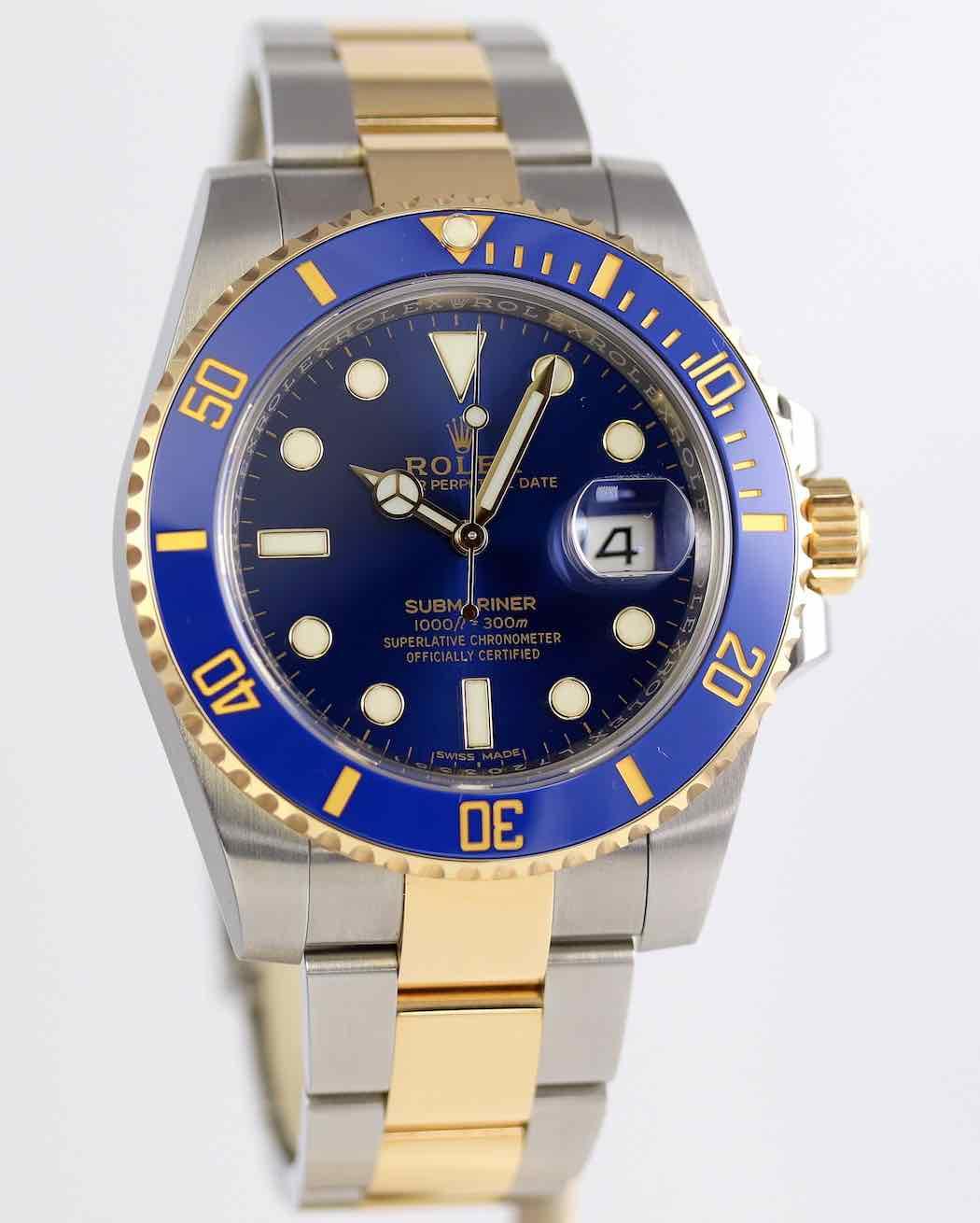 Rolex Submariner Date Or et Acier 116613LB – 11 350€