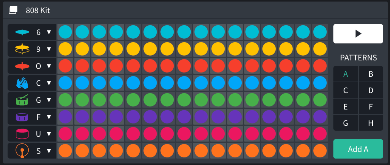 Filling up a Drum machine in Bandlab