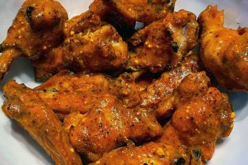 Oven baked chicken wings with Buffalo sauce