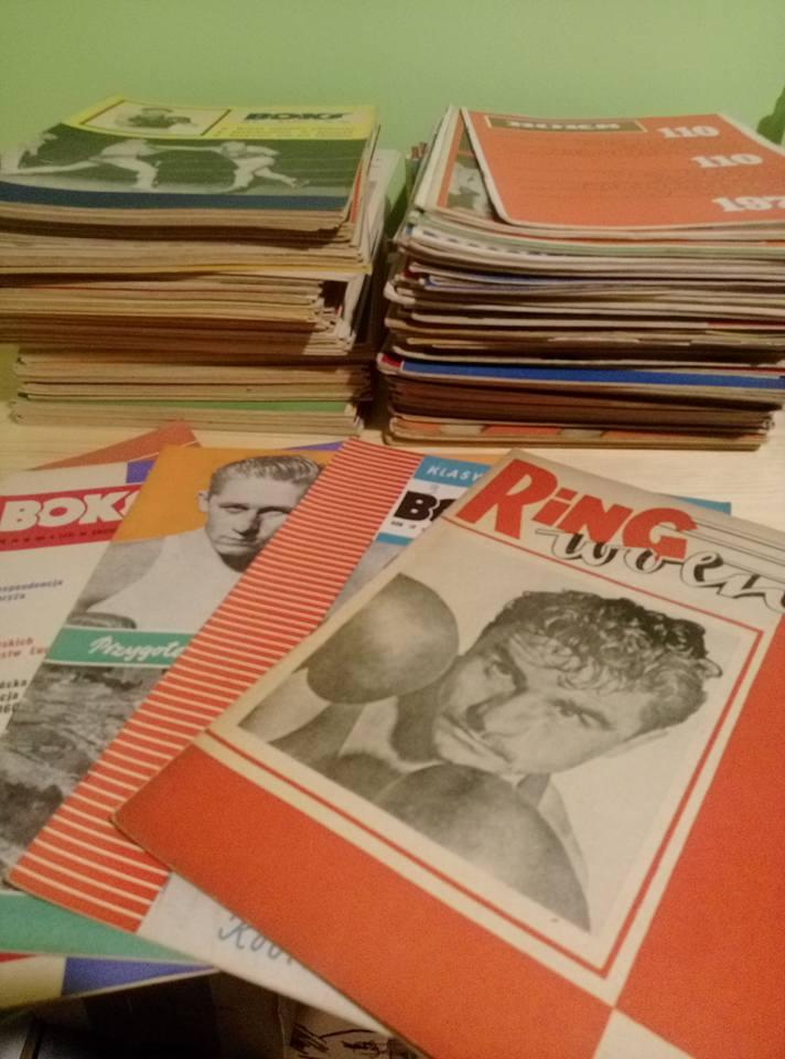 250 czasopism bokserskich z lat 50/60/70/80 / woro