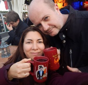 Kristen and Michael with mugs