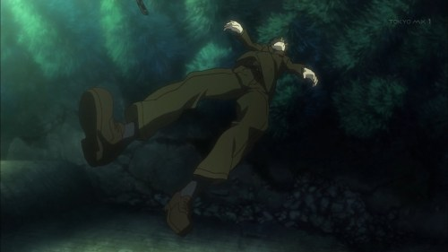 撃たれるリッケルト(第8話画像)