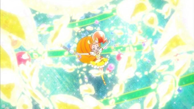 キュアカスタードのキャンディロッドバンクシーン(キラキラプリキュアアラモード11話画像)