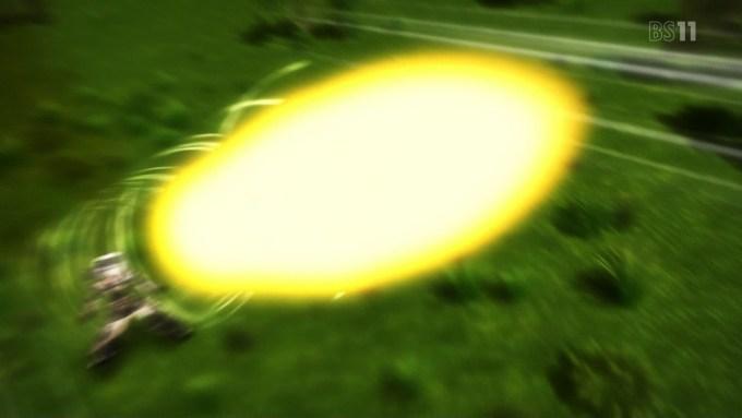 轟雷の砲撃(フレームアームズ・ガール2話画像)