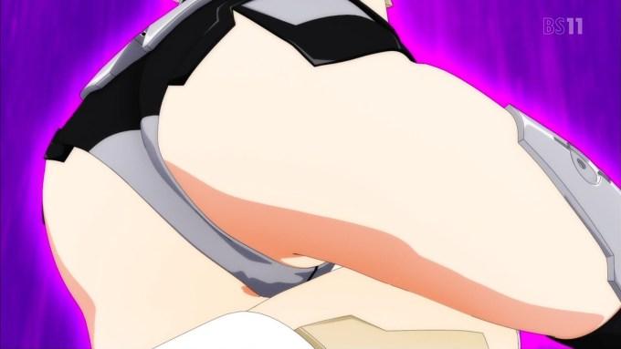 マテリアシロとマテリアクロのバンク(フレームアームズ・ガール3話画像)