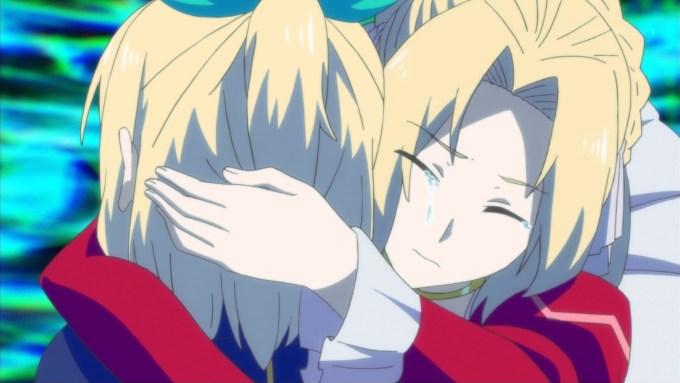 アリシアとルミアのハグ