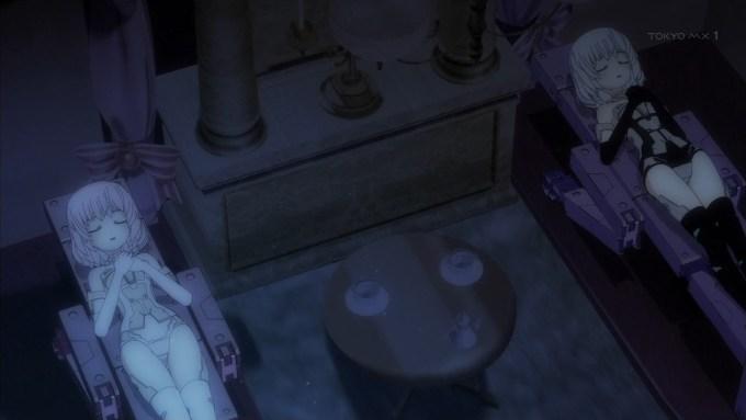 寝るマテリア姉妹,フレームアームズ・ガール10話より