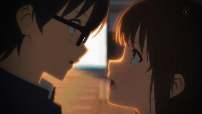 安芸倫也に怒る加藤恵,冴えない彼女の育てかた♭(2期)8話より