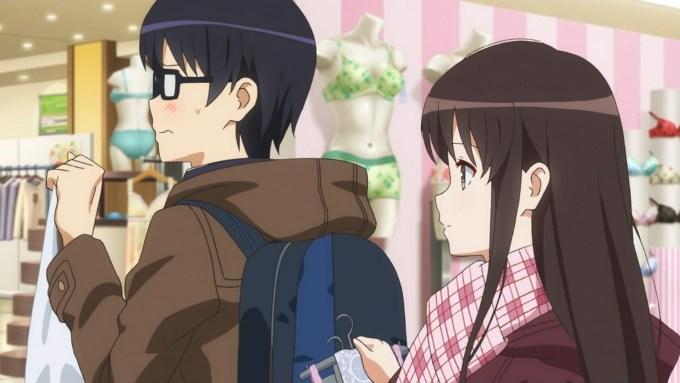 下着売り場にいる安芸倫也と加藤恵,冴えない彼女の育てかた♭(2期)8話より