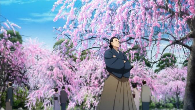 梅を見る坂本龍馬