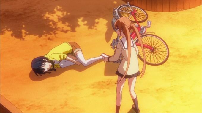 自転車の練習をする阿久津瑠璃
