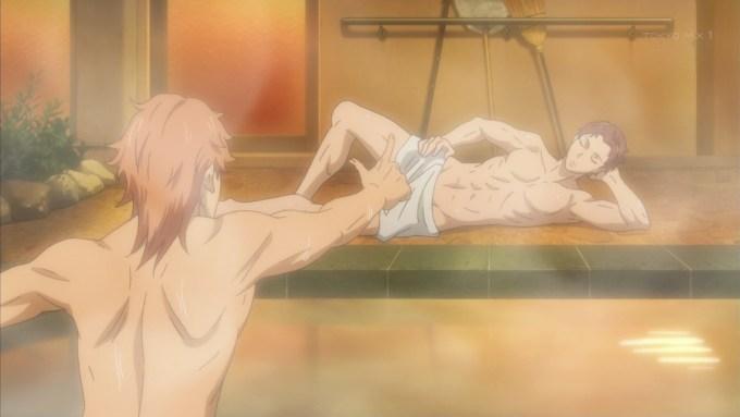風呂に入る赤城賀寿と兵藤清春