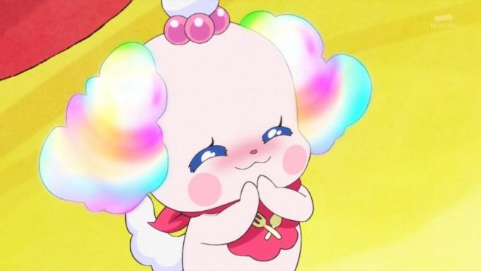 髪が虹色になるペコリン