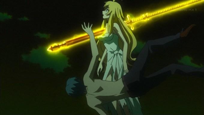ラインハルトに刺されるマリィ