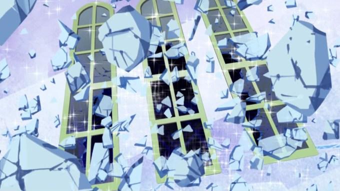 割れるパックの窓