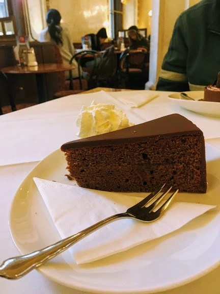Sachertorte is one of the must-try cakes in Vienna
