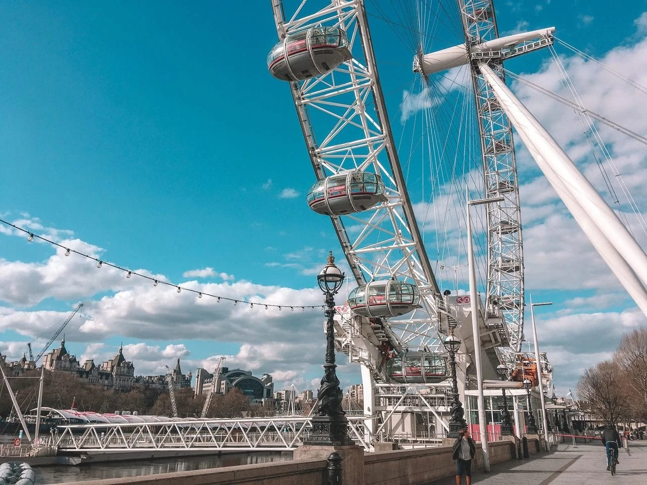 The London Eye during the April 2020 lockdown.