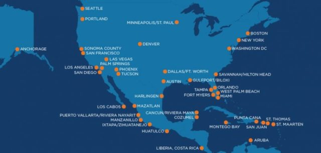 Sun Country Destinations Map Cheap Airlines