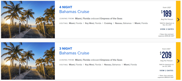 best cruise lines: royal caribbean prices
