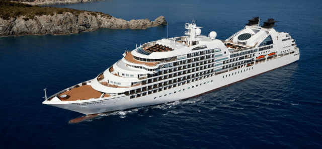 best cruises for couples: seabourn cruise traveling on ocean