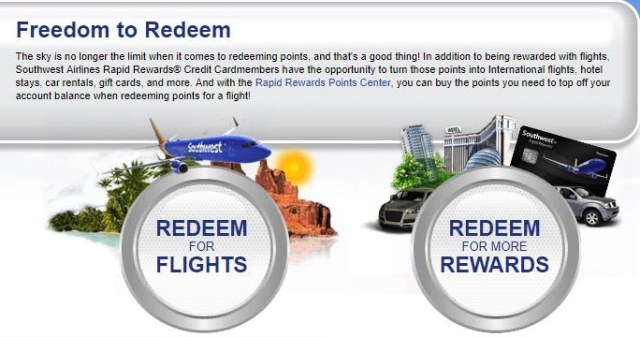 Redeeming Points With Southwest Credit Card