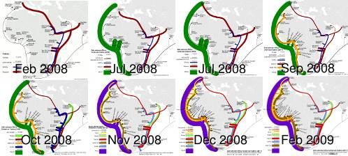 2008-2009 timeline