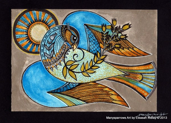 Peace Dove Painting