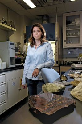 Goddard biogeochemist Jennifer Eigenbrode, who is an expert at detecting organic compounds in rocks, is using R&D funds to develop a simplified sample-processing method that could be applied to a robotic chemistry lab. Photo Credit: Chris Gunn Summer 2008