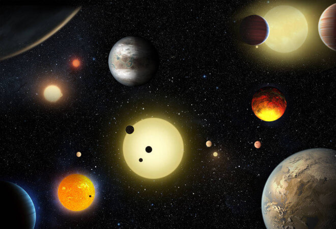 Artist renderings of exoplanets previously detected by the Kepler Space Telescope (NASA)