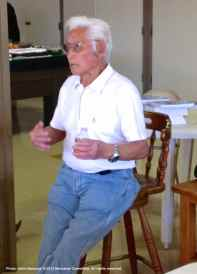 Hank Umemoto, shown here telling a story to the audience.