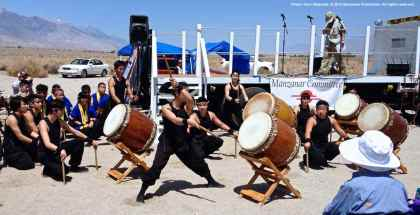 "UCLA Kyodo Taiko opens the PIlgrimage with ""Matsuri."""