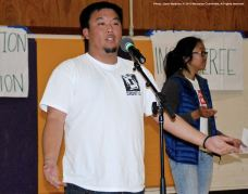 Jason Fujii of the Cal State Long Beach Nikkei Student Union was one of the emcees for the 2015 Manzanar At Dusk program.