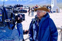 Takashi Hoshizaki being interviewed