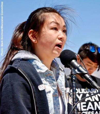 Student speaker Juli Yoshinaga of the CSULB Nikkei Student Union