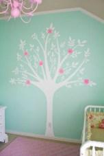 Já essa daqui, foi feita com pintura na parede. Super delicada!