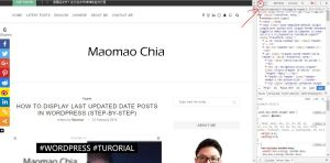 Display Last Updated Date Posts In WordPress last modified maomao maomaochia