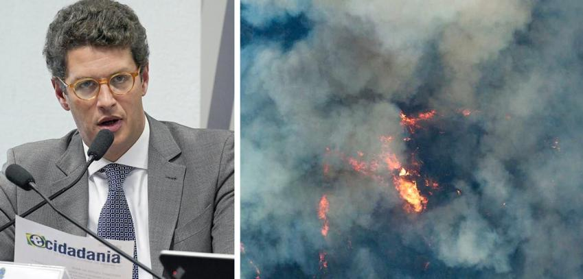 Resultado de imagem para Ricardo Salles queimadas