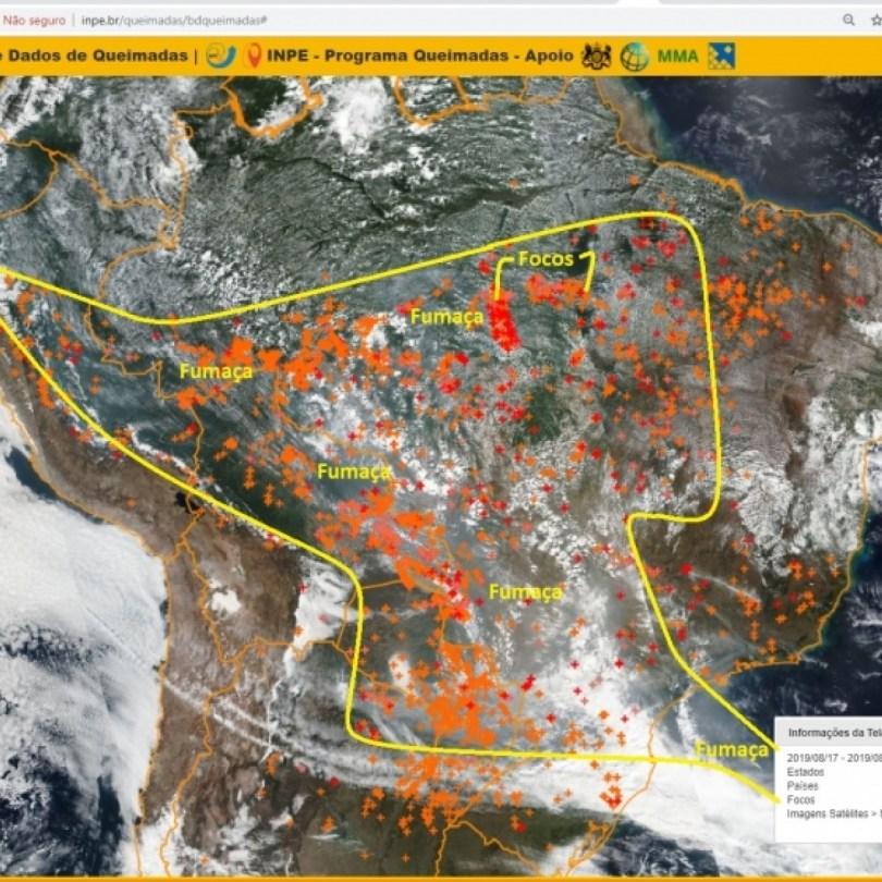 Resultado de imagem para dados mostram uma tendência de piora nas queimadas