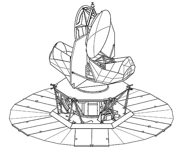 WMAP Spacecraft Line Art