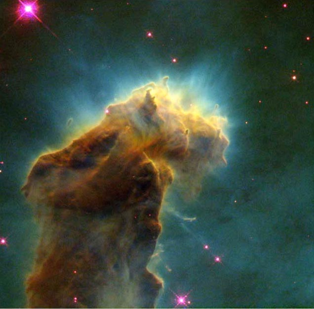 """Star Birth"" Clouds in M16 (NASA)"